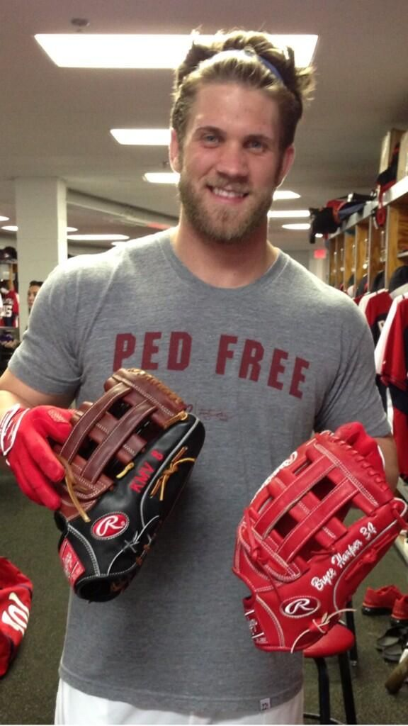 Bryce Harper....Love the tee...and the gloves...& the player!