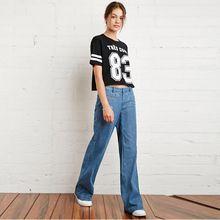 Salopette Maman Jeans Femmes Cloche Fond Jant Denim American Apparel Calcas feminina Jardineira Printemps Pantalones 15143D121(China (Mainland))
