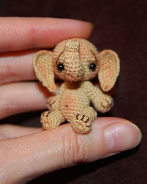 "♡ This is Bobo. She is not for sale, and there is no pattern, but she is crocheted! I just wanted to share that beautiful little face and those ""To-Die-For"" eyelashes!  ♥A"
