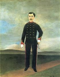 Marshal des Logis Frumence Biche of the 35th Artillery - Henri Rousseau, 1893