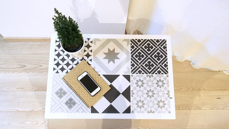 DIY Bricolage : Table basse en « carreaux de ciment » ! diy table tiles