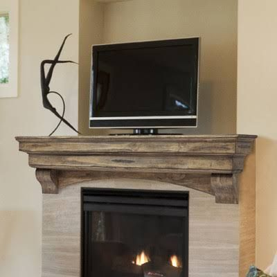 prefab fireplace mantel