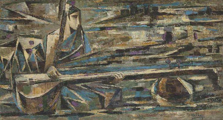 Kattingeri Krishna Hebbar (1911-1996) Untitled (Musician)