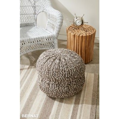 Crochet Patterns Intermediate : Free Intermediate Pouf Crochet Pattern Bernat Yarnspirations ...