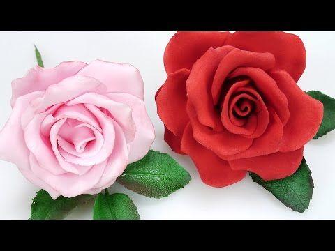 Tutorial rose in pasta di zucchero ,TUTORIAL Simple Petal Rose Gumpaste Fondant for Cake - YouTube