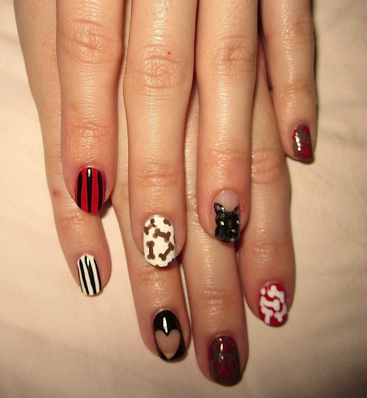 Zero The Dog Nail Designs: 69 Best Images About Doggy Nail Art On Pinterest