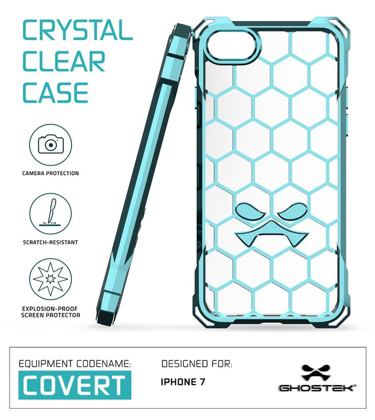 iPhone 7 Case, Ghostek® Covert Teal Series for Apple iPhone 7 Premium Impact Protective Armor Case Cover | Clear TPU | Lifetime Warranty Exchange | Explosion-Proof Screen Protector | Ultra Fit (Teal)  PRECISELY CUT: With the case cut so precisely, the iPhone 7 headphone and microphone jacks will be just as accessible. You'll only have to carry what you need, making international travels a breeze. 5 COLORS TO CHOOSE FROM: Clear, Space Gray, Rose Pink, Peach, Teal & Gold. Perfect for any suit…
