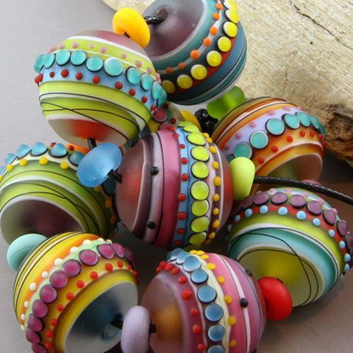 magma beads fiesta handmade lampwork beads lampwork