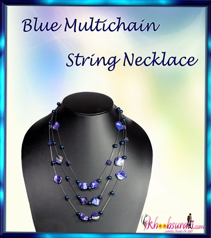 Khoobsurati Blue Sapphire Precious Flintstones Medium Multichain String Necklace  http://khoobsurati.com/khoobsurati/khoobsurati-blue-sapphire-precious-flintstones-medium-multichain-string-necklace