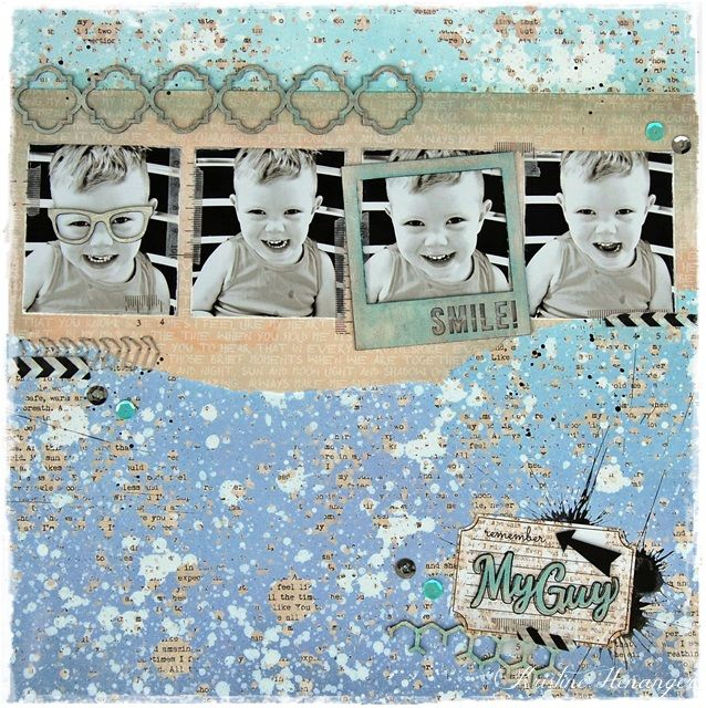 DT Blue Fern Studios - 7 DOTS STUDIO-  MY GUY - BY KRISTINE HENANGER