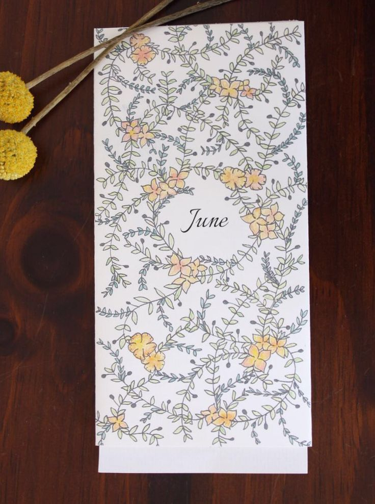 Save the date floral bespoke motif