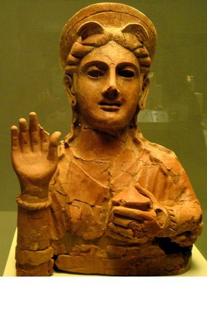 Phoenician terracotta,from Cadiz,Spain . 450-400 BC