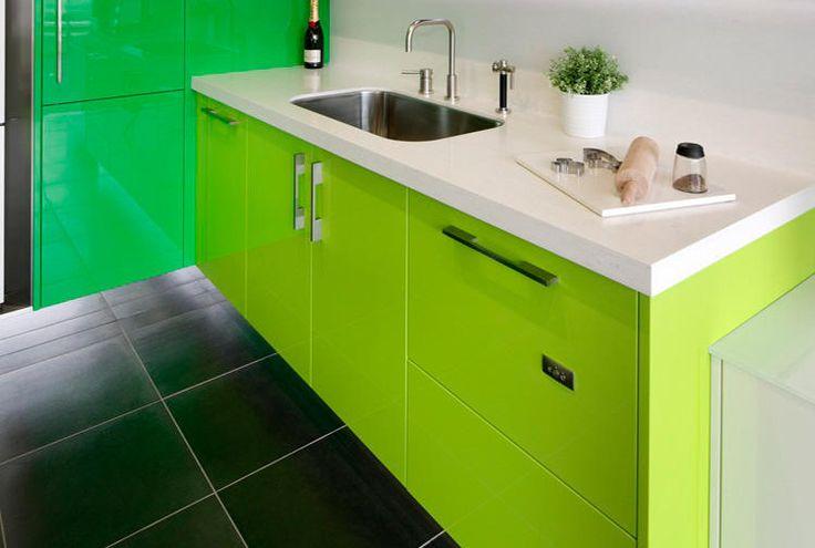 Corian Colour Grape Green And Designer White Application