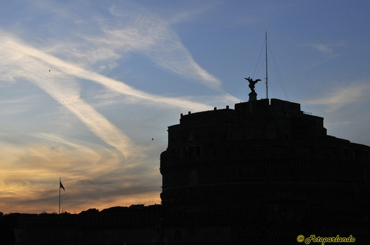 Silhouette Castel sant'Angelo - Roma