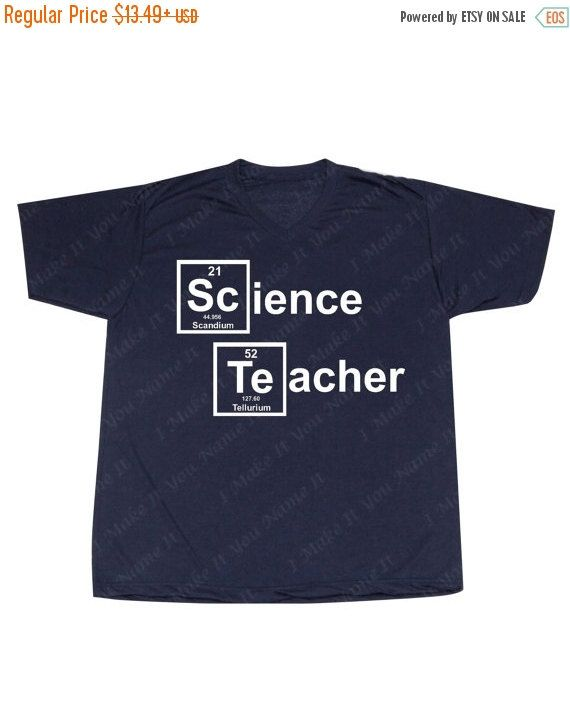 Science Teacher White Logo Men's V-NECK by IMakeItYouNameIt