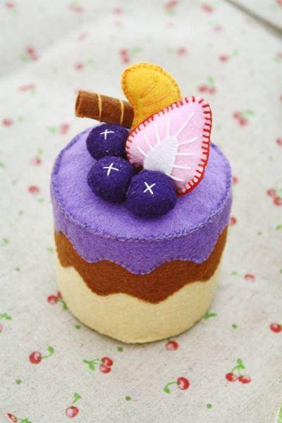 Blueberry cake by li-sa.deviantart.com on @deviantART