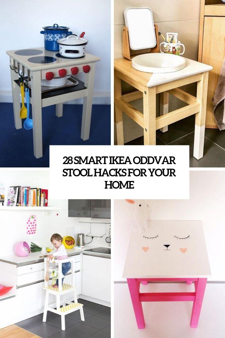 Sgabello Bambini Bagno Ikea 28 smart ikea oddvar stool hacks for your home nel 2020 (con