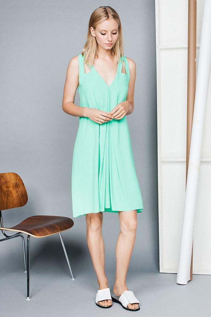 Drapey Viscose Trapeze Dress