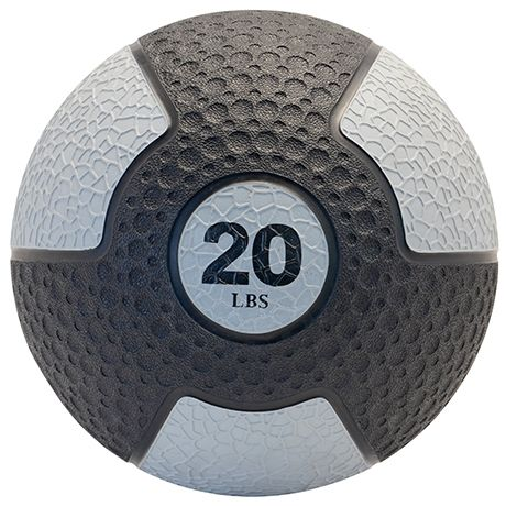 Deluxe Rubber Med Ball, 20 lb