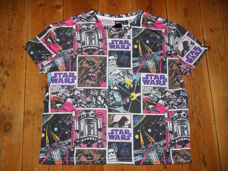 DISNEY STAR WARS Ladies T Shirt Primark Cropped Tee Top