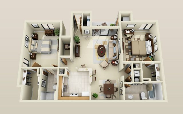 plan-maison-grand-salon-avec-accès-sur-balcon TINY HOUSES   Plans