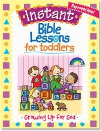 Instant Bible Lessons Toddlers -- Growing Up for God - RoseKidz -  Fully-Reproducible Kids Bible Lessons for Toddlers (Ages: 1-3). Features 8 all-inclusive lessons with over 60 flexible Bible activity options. Perfect for Kids Sunday School, Christian Home School Curriculum, and more! Length: 96 pgs.  Get toddlers excited about Jesus with these fully-illustrated, reproducible Bible lessons!