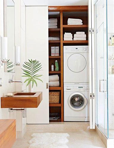 Afbeeldingsresultaat voor wastafel met wasmachine