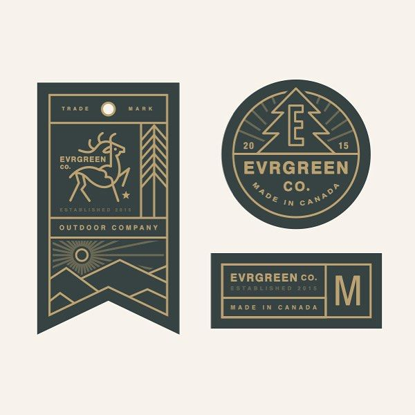 Tag system for Evrgreen. #logo #stevewolfdesigns #tag #label #typography #illustration #branding #graphicdesign