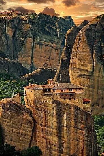 Greece. Meteora. The Holy Monastery of Rousanou/St. Barbara