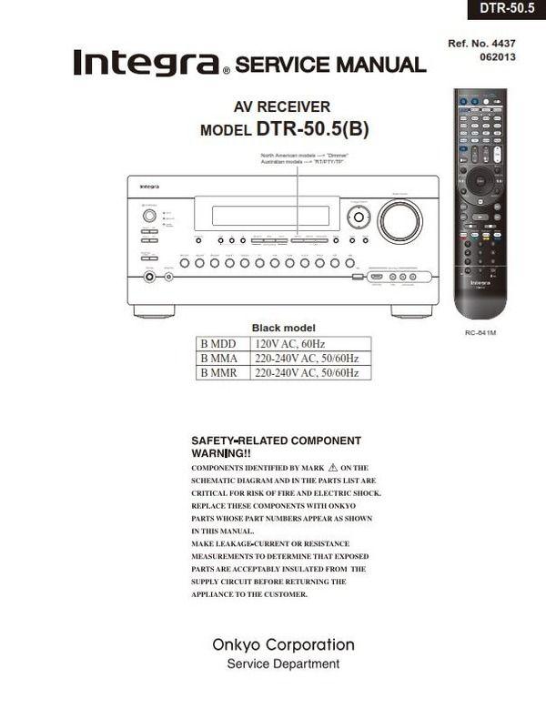 Original Integra/Onkyo service and repair documentation for