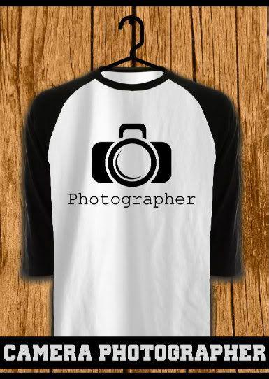 ourkios - Camera Photographer Black Raglan