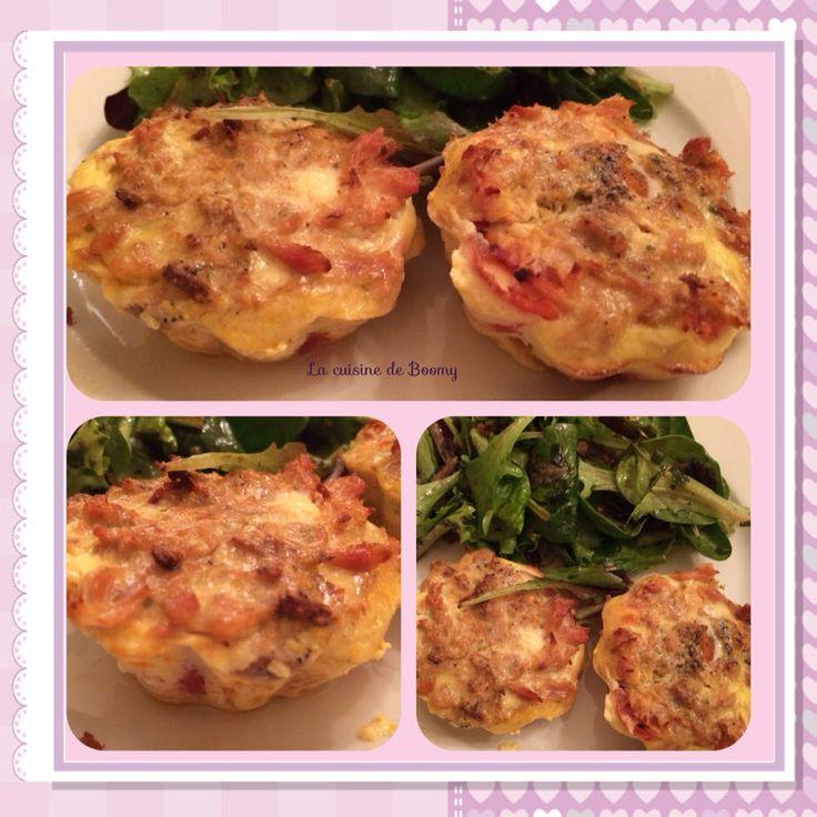 Clafoutis tomates thon au boursin WW - La cuisine de Boomy