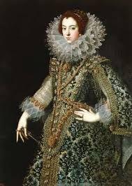 Las gorgueras era muy utilizadas, inicialmente eran parte del vestido pero se transformo en un accesorio aparte.