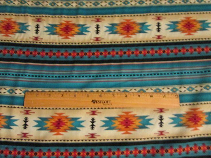 Navajo Nativo Americano Verde Azulado Impresión De Bordes Dorados bthy Tela De Algodón