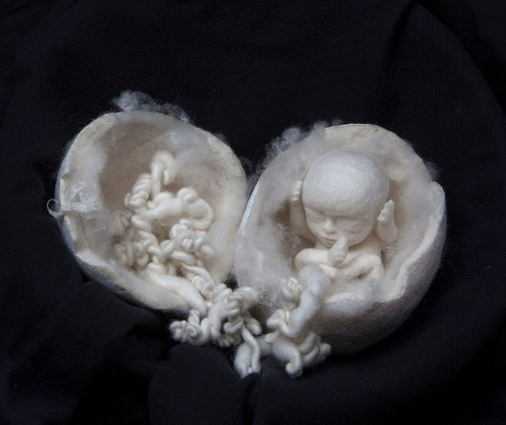 Bonnie Campbell's felted wool babies