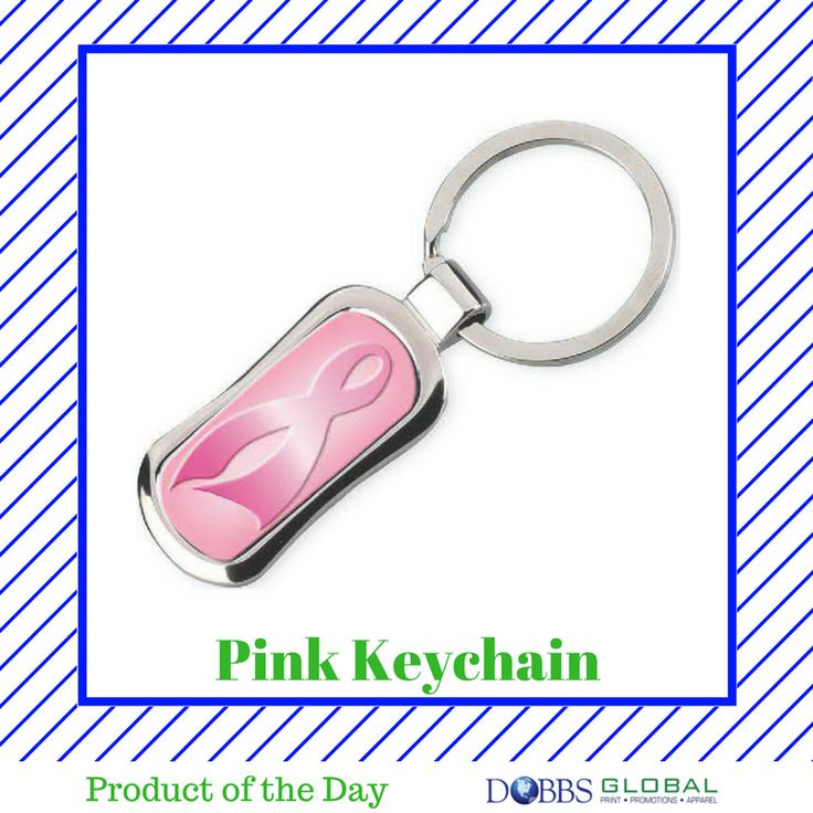 Pink Keychain- A sweet little gift to help raise awareness for breast cancer, while showing potential clients your business supports other causes. #productoftheday #business #logo #brand #branding #marketing #dobbsglobal #promotionalproducts #print #apparel #jax #jacksonville #staugustine #staug #duval #stjohns #fl