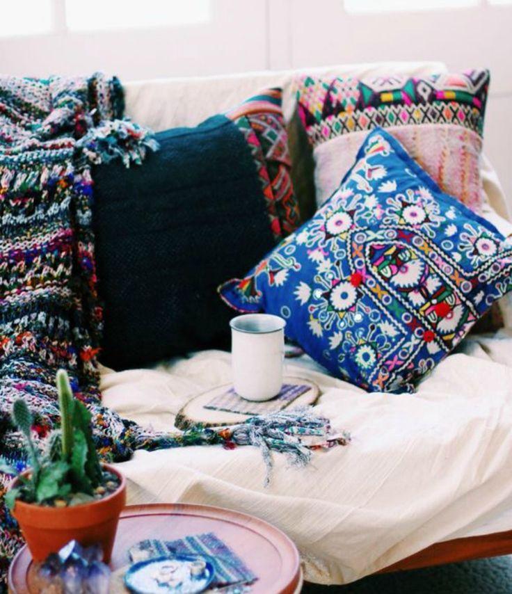 Boho διακόσμηση μαξιλάρια
