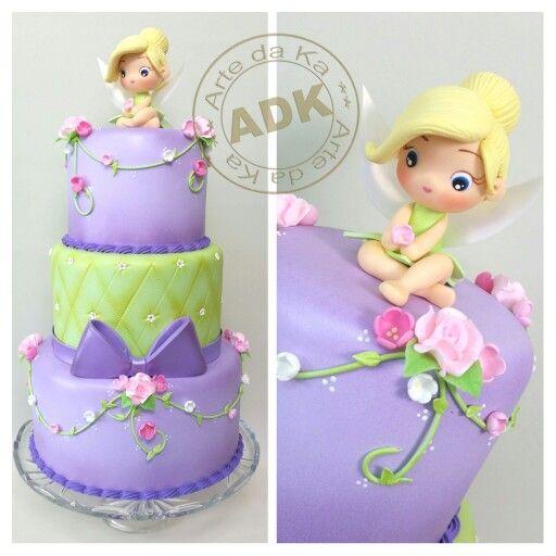 Tinkerbell cake - Bolo Sininho