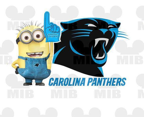 MINION PRO FOOTBALL Fan Carolina Panthers Digital by MiceInBlack, $4.50