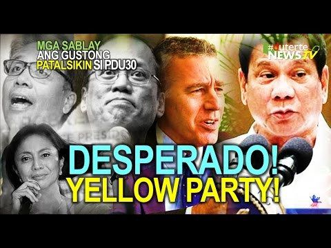 DESPERADO ANG YELLOW PARTY! KINUTSABA ANG US, GOLDBERG, REYES PARA PATALSIKIN SI PDUTERTE! - WATCH VIDEO HERE -> http://dutertenewstoday.com/desperado-ang-yellow-party-kinutsaba-ang-us-goldberg-reyes-para-patalsikin-si-pduterte/   Welcome to my channel.  You are in a 'one-stop-news-channel'! NEWS TV is a place where you can find news updates and latest trends in the Philippines. We grab the best stuffs and reupload here.  What's new in politics, entertainment,