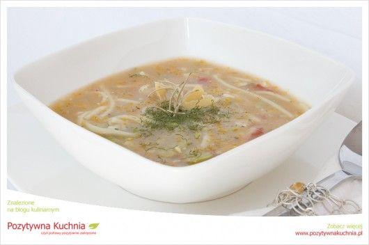"""Zupa z bobu """"Aegyptum"""" - #przepis na #obiad z #bob.em  http://pozytywnakuchnia.pl/dobra-zupa-z-bobra-eee-z-bobu-znaczy-sie/  #zupa #kuchnia"""