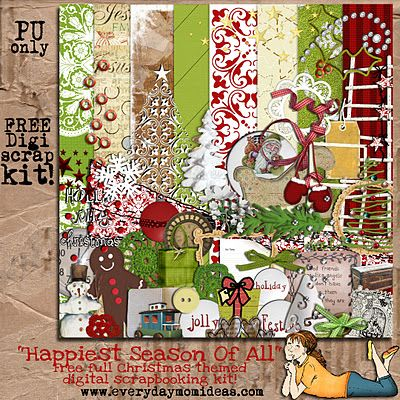 Everyday Mom Ideas: Digital Scrapbooking Freebies  -------------------------------------------------  Lots of free kits here - they link to 4Shared to download the zips - but hey...free is free