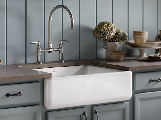 Kohler apron front sink & faucet