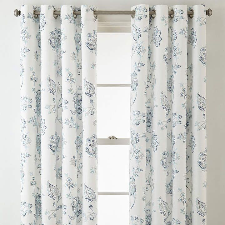 Jcp Home Jcpenney Home Quinn Jacobean Grommet Top Curtain Panel