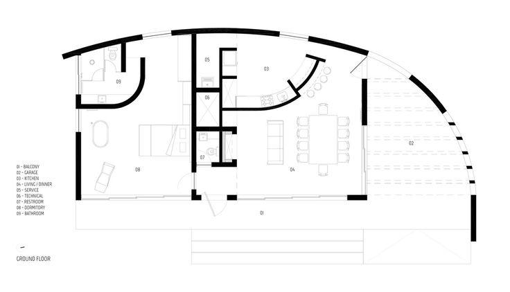 Дом HLM в городе Санта-Мария в Бразилии выполнен фирмой Boa Arquitetura. Владельцы резиденции пожелали, чтобы новая постройка гармонично вписалась в пейзаж, как будто здание всегда находилось на этом месте. Изогнутые стены из белого бетона стали исходной точкой в строительстве дома площадью 196 к...
