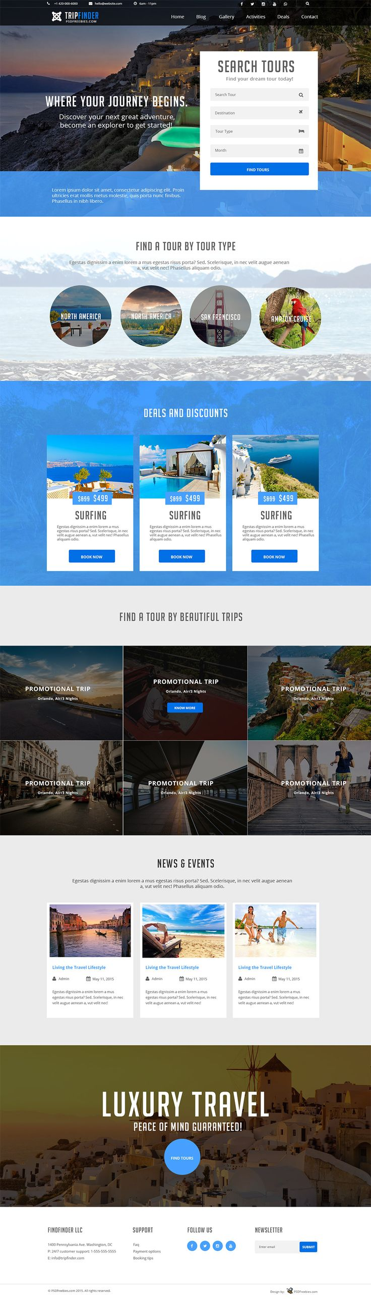 Download Free Tour and Travel Guide PSD