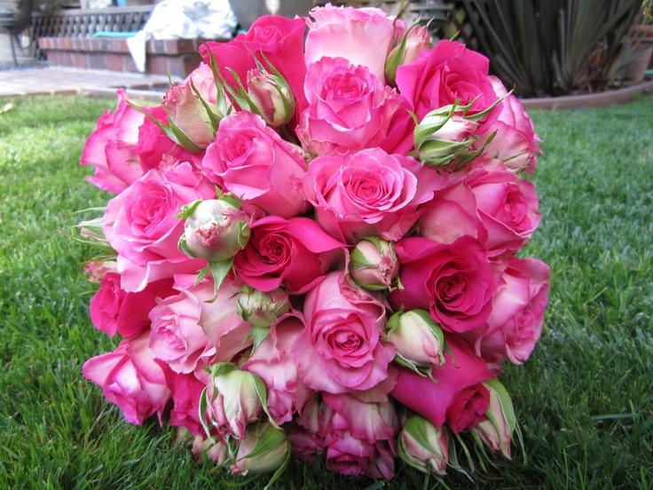 multi colored rose bouquet | Wedding Stuff | Pinterest