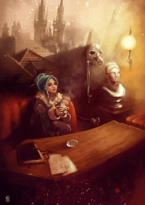 Karou in Poison Kitchen from Daughter of Smoke and Bone
