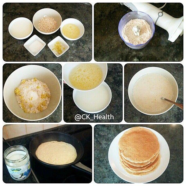 Recette de pâte à crêpes healthy (English version in the comments) Pour 6 crêpes: - 270ml de lait de votre choix - 90gr de flocons d'avoine (sans gluten si intolérance) - 3 blancs d'oeuf - 5 gr de levure - Zeste de citron  1. Passez les flocons d'avoine au mixeur jusqu'à obtenir une farine.  2. Réunissez les ingrédients secs (farine d'avoine, levure et zeste) puis mélangez. 3. Battez les blancs d'oeuf en omelette puis mélangez avec le lait.  4. Réunissez les ingrédients secs et liquides…