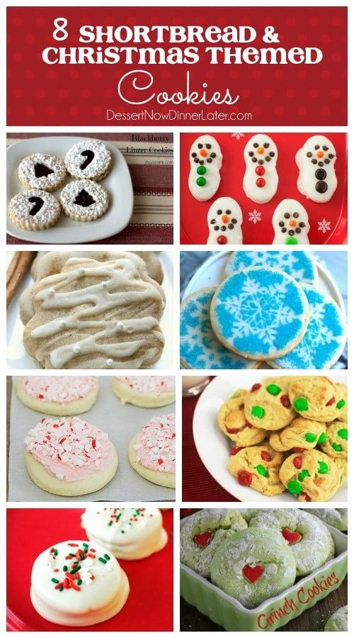 8 Shortbread Christmas Themed Cookies Baking Made Easy In 2019
